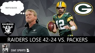 Raiders vs. Packers Reaction To Oakland's 42-24 NFL Week 7 Loss & Derek Carr's Fumble In Green Bay