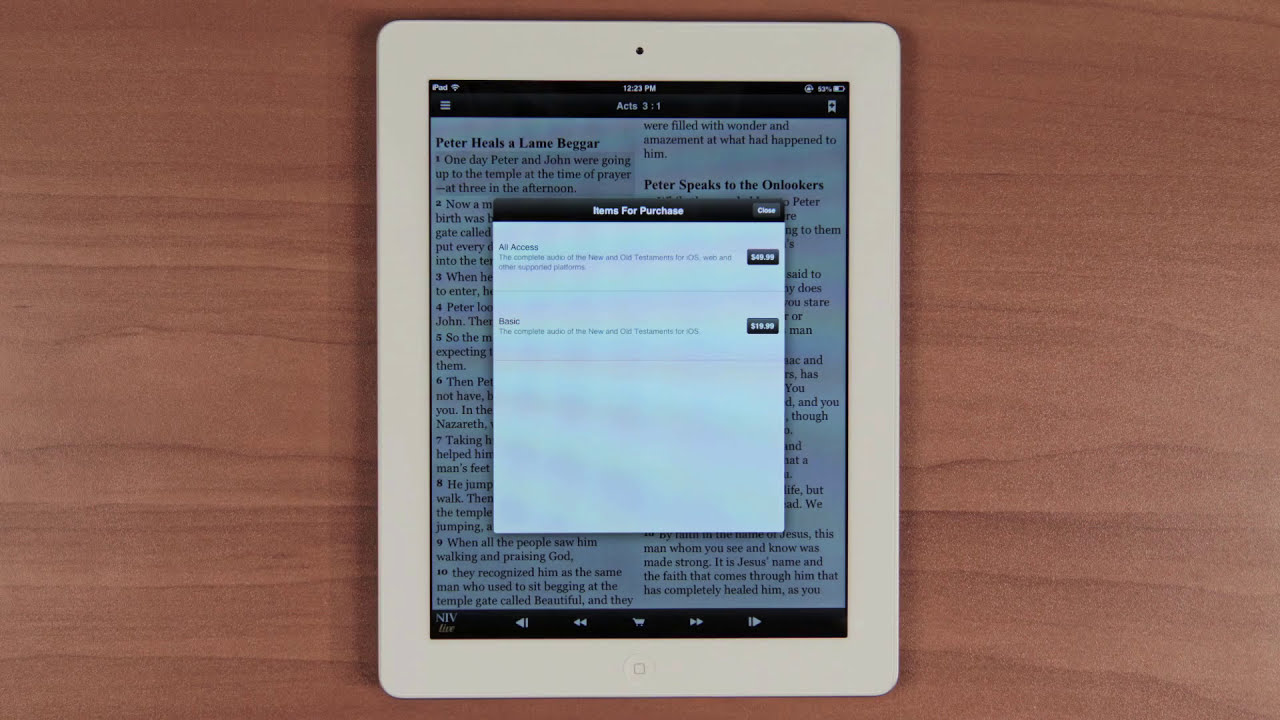 NIV Live - A Bible Experience | Mobile App Tutorial