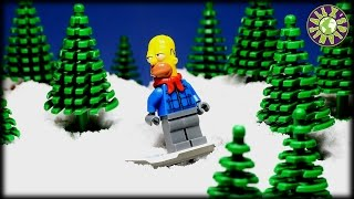 Lego Simpsons and Batman Christmas. How Homer tried to steal Christmas donuts from Santa Workshop.