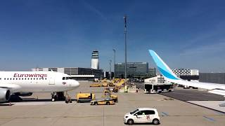 Eurowings EW 5888 A320: Vienna to Madrid takeoff, approach, and landing