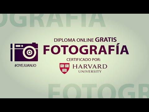 Diploma gratis de Fotografía certificado por Harvard