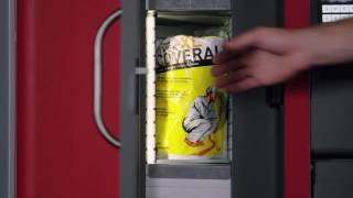 the first industrial vending machine designed to dispense boxes robocrib tx750