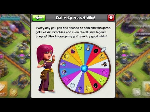 CLASH OF CLANS UPCOMING UPDATE - Daily Spin And Win Magical Item In Coc
