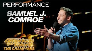 Samuel J Comroe Funny Comedian Breaks Down Male Stereotypes  Americas Got Talent The Champions