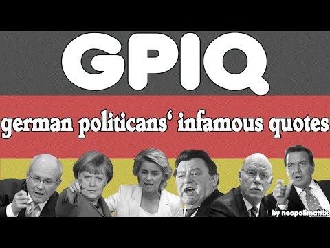 german politicians' IQ [EPISODE 1 - HORST SEEHOFER]
