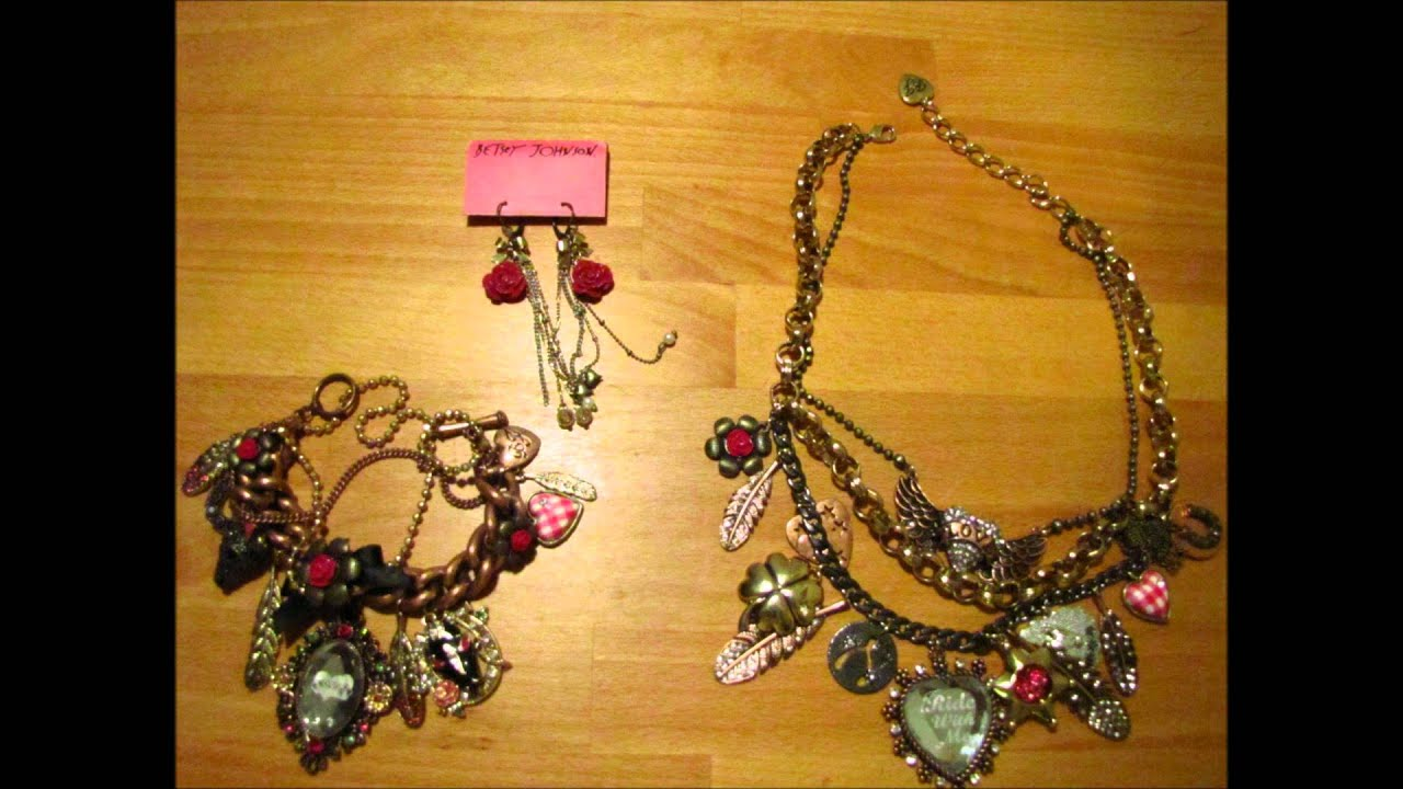 Betsey Johnson Jewelry Collection for sale on Ebay! - YouTube
