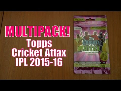 100 CLUB!!! ☆ MULTIPACK ☆ Topps CRICKET ATTAX Indian Premier League 2015-16 Trading Cards
