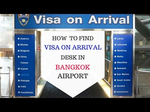 Instruction: How to get to Visa on Arrival desk in the Bangkok Suvarnabhumi Airport, Thailand