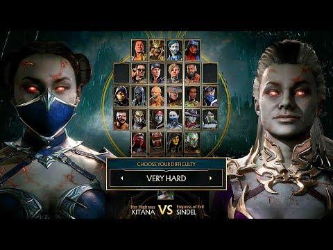 Mortal Kombat 11 Sindel Vs Kitana Gameplay Very Hard Difficulty MK11