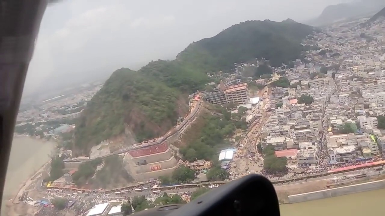 Vijayawada View from Helicopter - YouTube