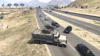patch 1.10 deformation crash tests - dump truck, highway - GTA 5