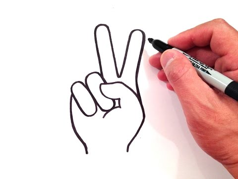 How To Draw Peace Sign Cool Things To Draw Mat