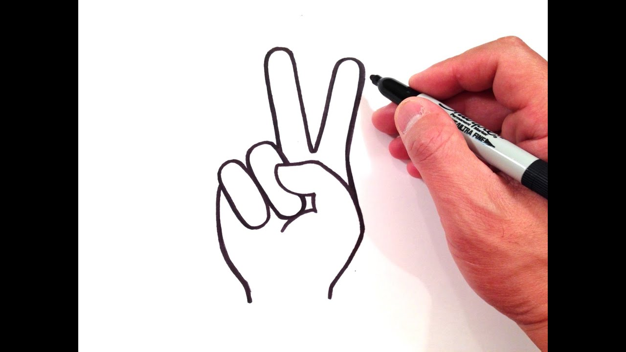 How To Draw A Peace Sign Youtube