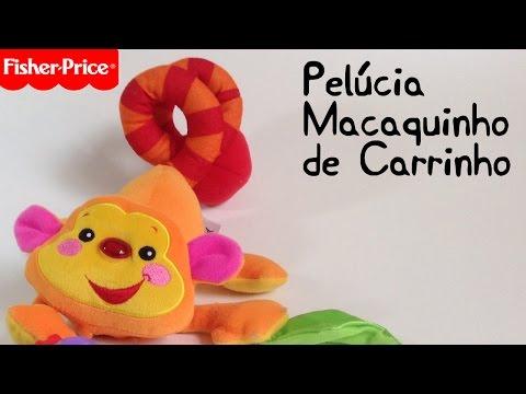 Macaco Musical De Carrinho -Fisher Price - Brinquedo Para Bebês