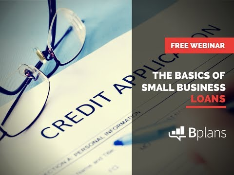 The Basics of Small Business Loans with SmartBiz Loans and Bplans.com