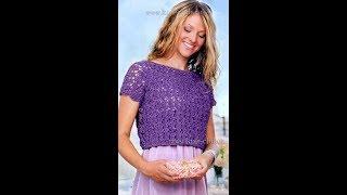Летние Кофточки, Вязанные Крючком - мода - стиль - 2019 / Summer Blouses Knitted Crochet