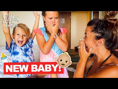 SURPRISE BABY ANNOUNCEMENT ON VACATION!! | Slyfox Family