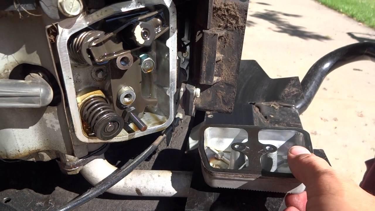 rebuild tecumseh carburetor diagram car window parts husqvarna tractor with kawasaki engine - bent push rod youtube