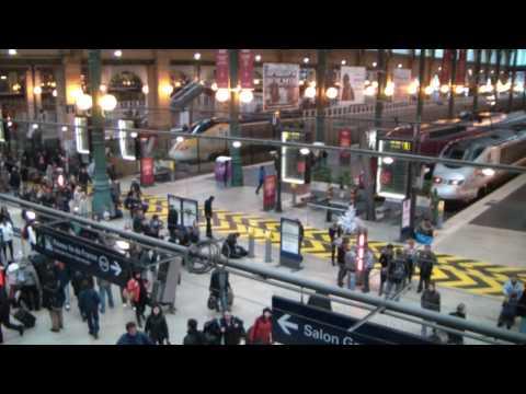 French Railways. Paris Gare du Nord-Station.