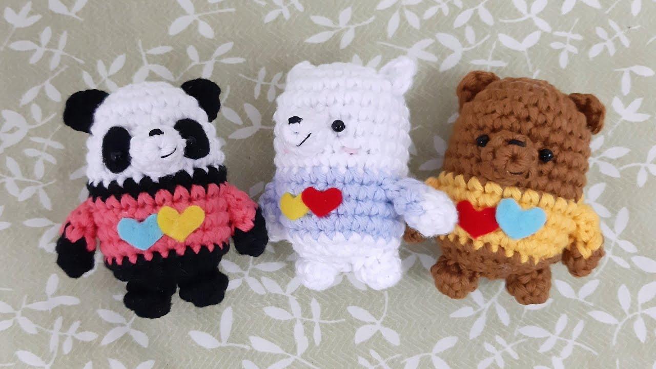 CROCHET PATTERN: We Bare Bears Inspired Bear Stack (small ... | 720x1280