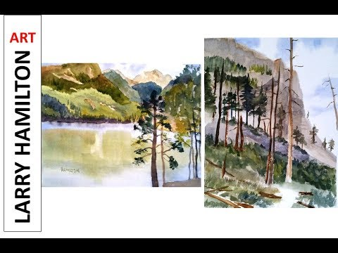 """Painting with Larry Hamilton - Watercolor-June 28, 2017 """"ComoLake and Mill Canyon"""""""
