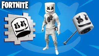 MARSHMELLO SKIN COMING TO FORTNITE! Fortnite Marshmello in-game event (Marshmello Pick-axe / Spray)