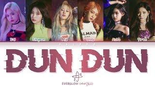 Gambar cover EVERGLOW (에버글로우) - DUN DUN (Color Coded Lyrics Han/Rom/Eng/가사)