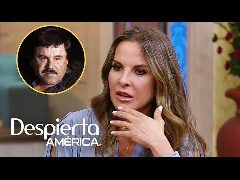 Kate del Castillo aún se pone nerviosa cuando cuestionan su relación con 'El Chapo'