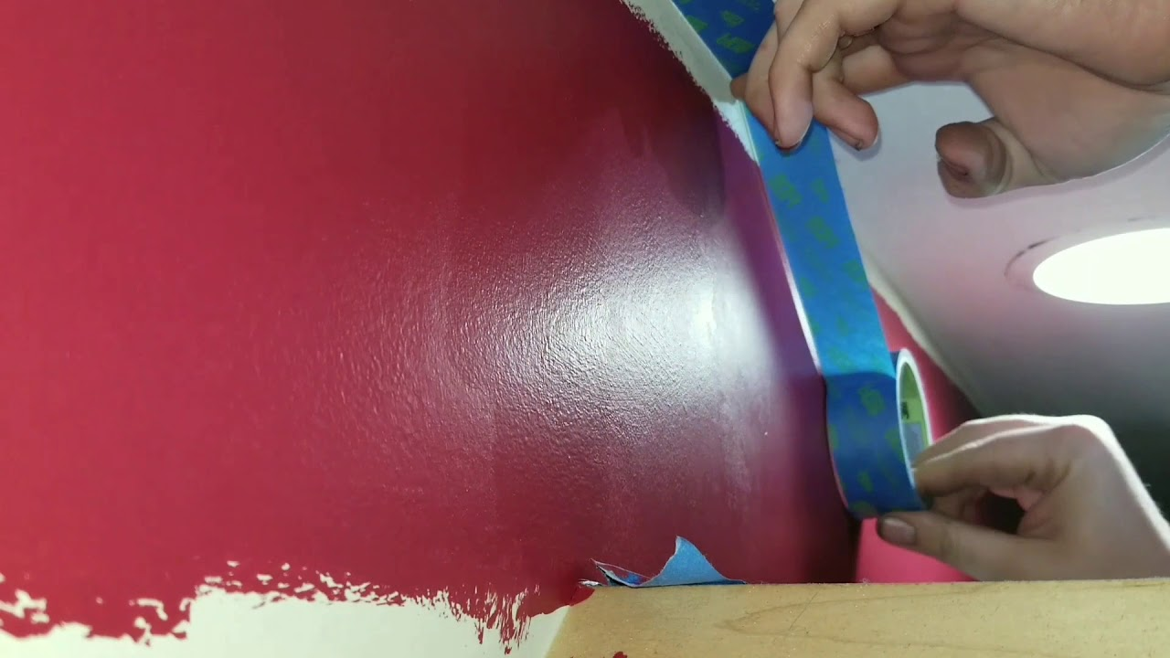 Fast Easy Way To Tape Ceiling For Paint