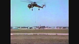 SELFRIDGE MILITARY AIR MUSEUM- F-84 MOVE TO AIR PARK- 1987