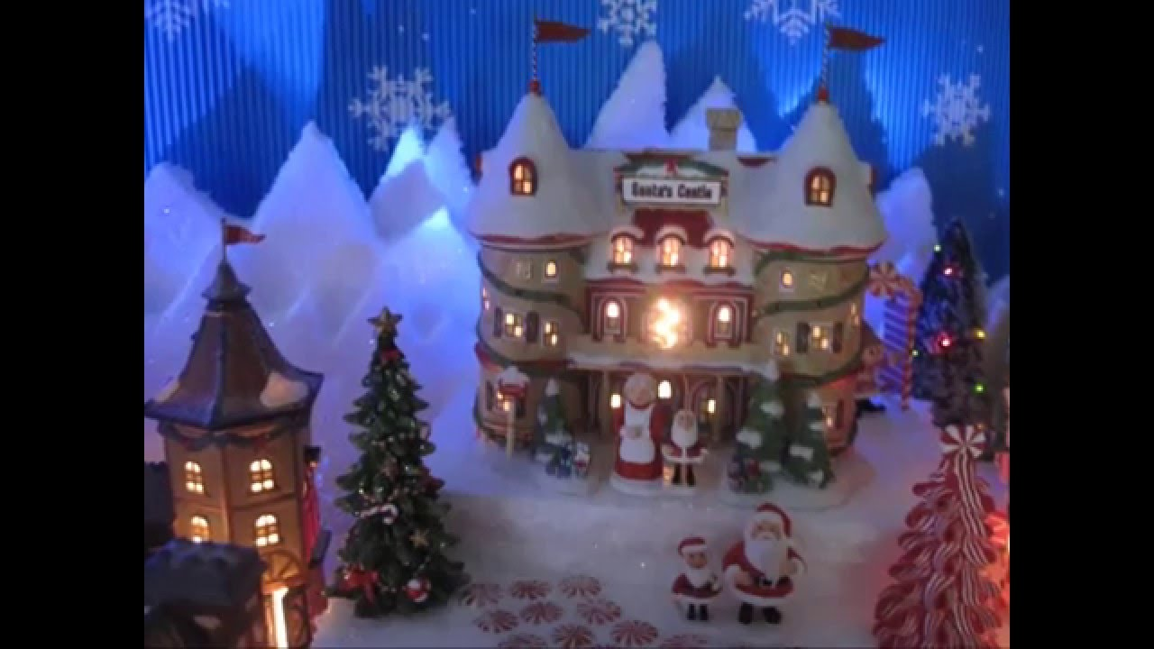 Dept 56 North Pole Christmas Village Display 2015 - YouTube