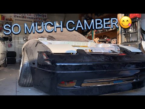 The 240SX Gets MASSIVE Camber!