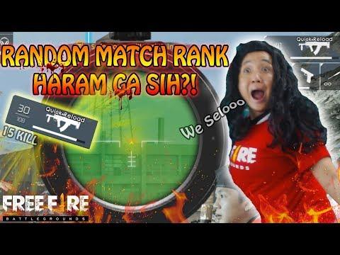 RANDOM MATCH RANK PAKE GROZA HARAM GA SIH ?!! ( ngakak online ) - garena free fire