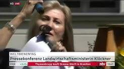 LIVE: Landwirtschaftsministerin Klöckner zu den Themen Weltbienentag und Fleischindustrie