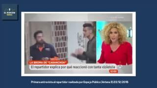 Primera entrevista al repartidor (Cara Anchoa) en la televisión
