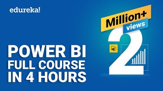Power BI Full Course - Learn Power BI in 4 Hours | Power BI Tutorial for Beginners | Edureka