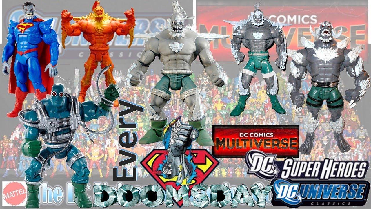 Every Dc Doomsday Dc Multiverse Dc Universe Classics Comparison List Youtube