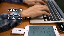 ADATA i-Memory UE710 Flash drive with Rose Gold – Lightning and USB in one!