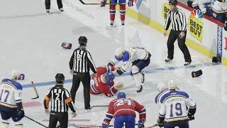 NHL 17 - Fist Fight Brawl Montage Gameplay [1080p 60FPS HD]