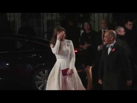 SytonniaLIVE: The Duchess of Cambridge arrives at A Street Cat Named Bob premiere