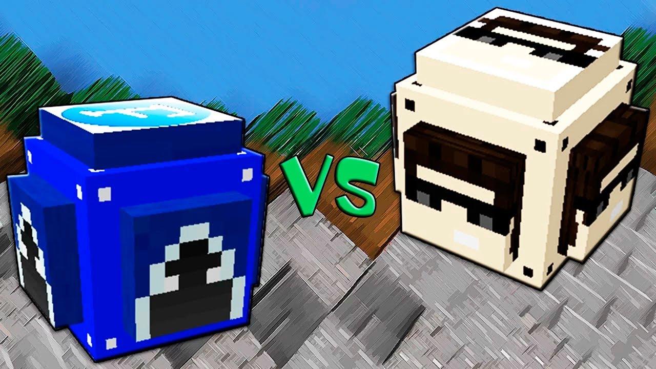 YouTube Лаки Блоки - Лаки Челлендж Minecraft