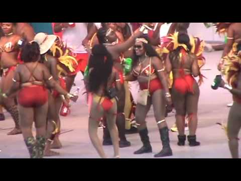 Antigua Carnival Masqueraders on stage 2017