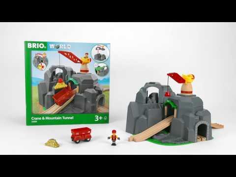 BRIO World - 33889 Crane and Mountain Tunnel