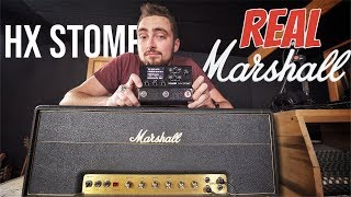 HX Stomp vs. VINTAGE Marshall | Can You Hear The Difference?