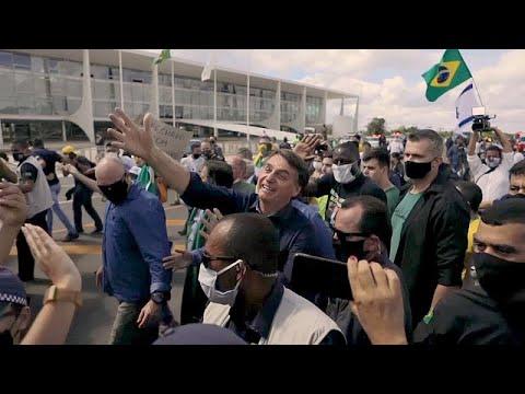 شاهد: متظاهرون برازيليون يدعمون بولسونارو ضد المحكمة العليا…  - نشر قبل 6 ساعة