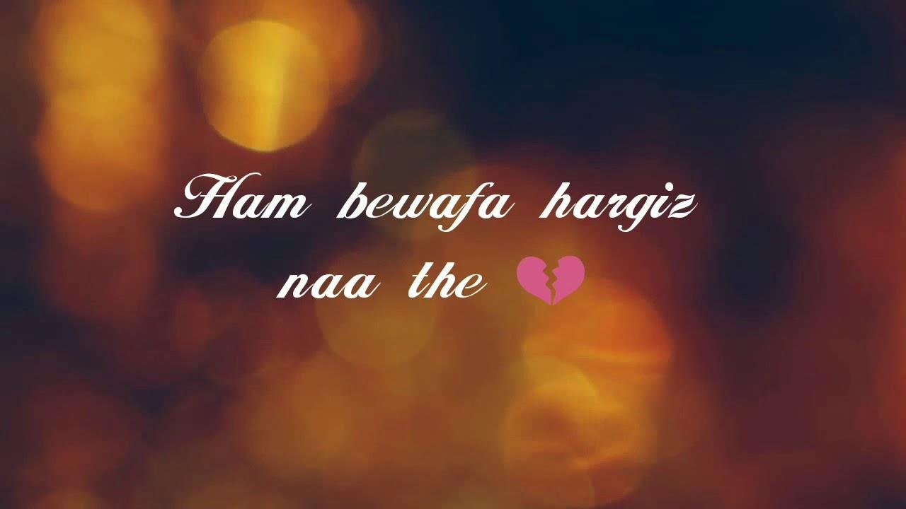 Ham Bewafa Sad Song Lyrics Whatsapp Status Music Jinni