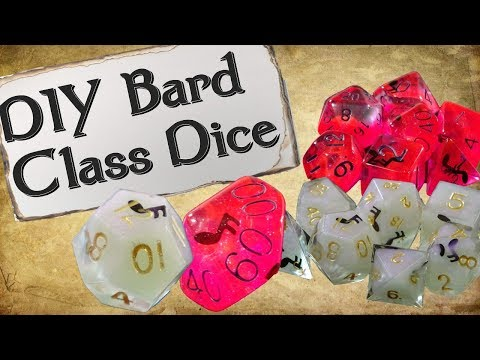 How to Make Your Own Dice Set | Bard Class Dice