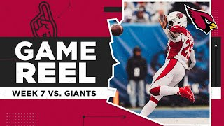 Cardinals defeat the Giants in New York | Arizona Cardinals Game Reel