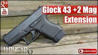 Glock 43 +2 Mag Extension by Taran Tactical