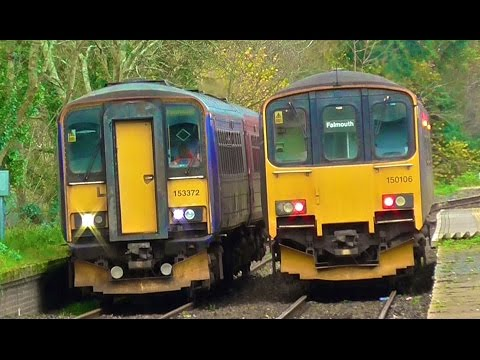 Great Western Railway Class 150s & 153s On The Falmouth Docks Branch In Cornwall